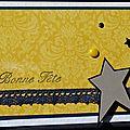 47. blanc, jaune, bleu, gris et noir - dentelle et étoile