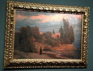 L'ange du Bizarre, le romantisme noir- Arnold Bocklin, Villa de bord de mer, 1871-1874