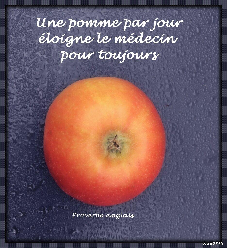 Proverbe Anglais Une Pomme Par Jour Eloigne Le Medecin Pour