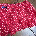 Culotte BIANCA en coton rouge étoilé de blanc - noeud gros-grain marine (3)