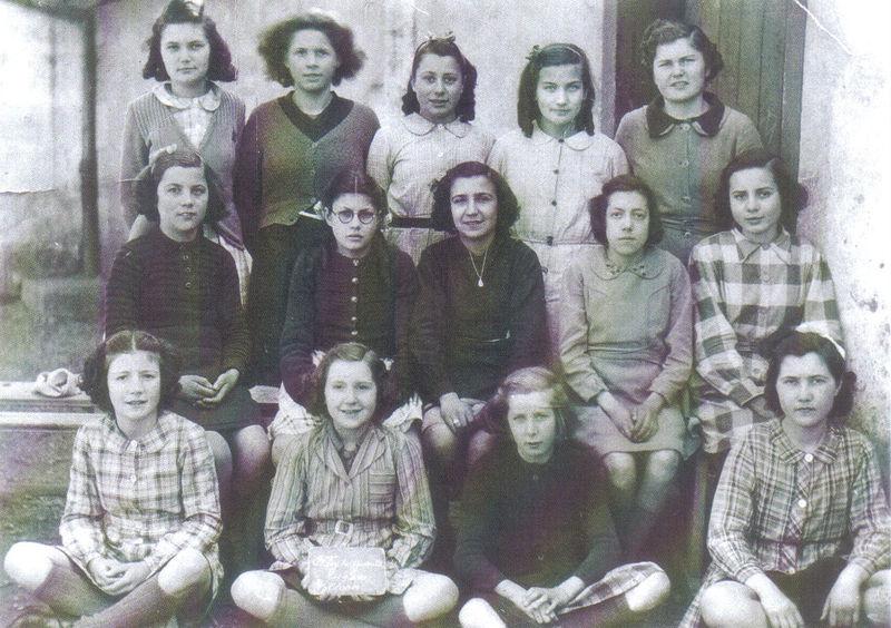 Ecole communale, Sainte-Foy, 1944