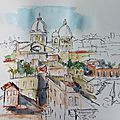 N°44-45 rome, premiers croquis / first sketches in rome