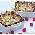 Clafoutis framboises - rhubarbe