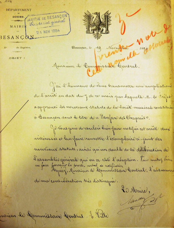 fanfare chaprais 1884
