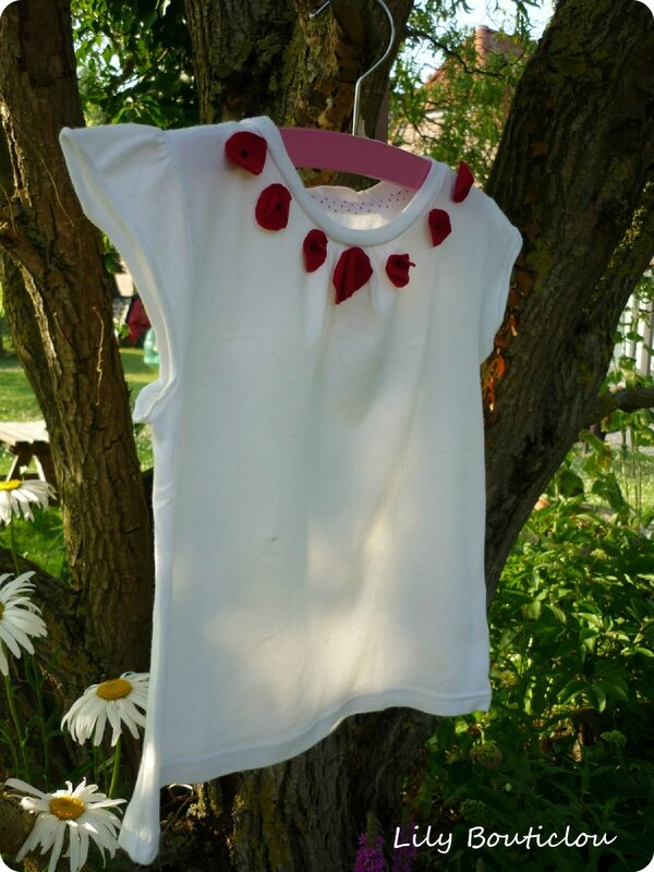 tee shirt coquelicot diy lilybouticlou