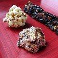 Snacks de pop-corn façon Toblerone et rochers