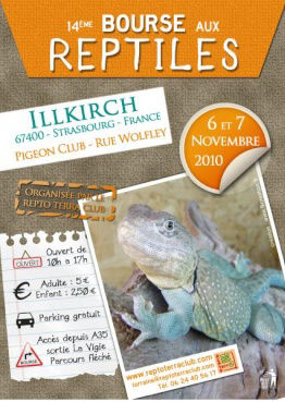 Affiche 2010 Bourse aux reptiles Reptoterraclub