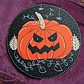 Carte Halloween citrouille