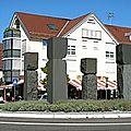 Rond-point à schwaikheim (allemagne)