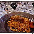 Collier agneau aux spaghetti
