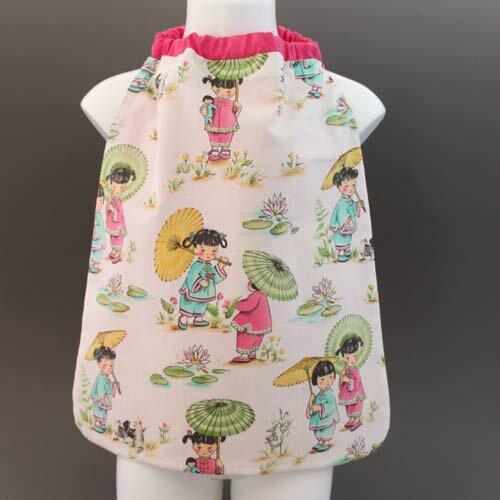 Serviette de table enfant Petites chinoises cou élastiqué