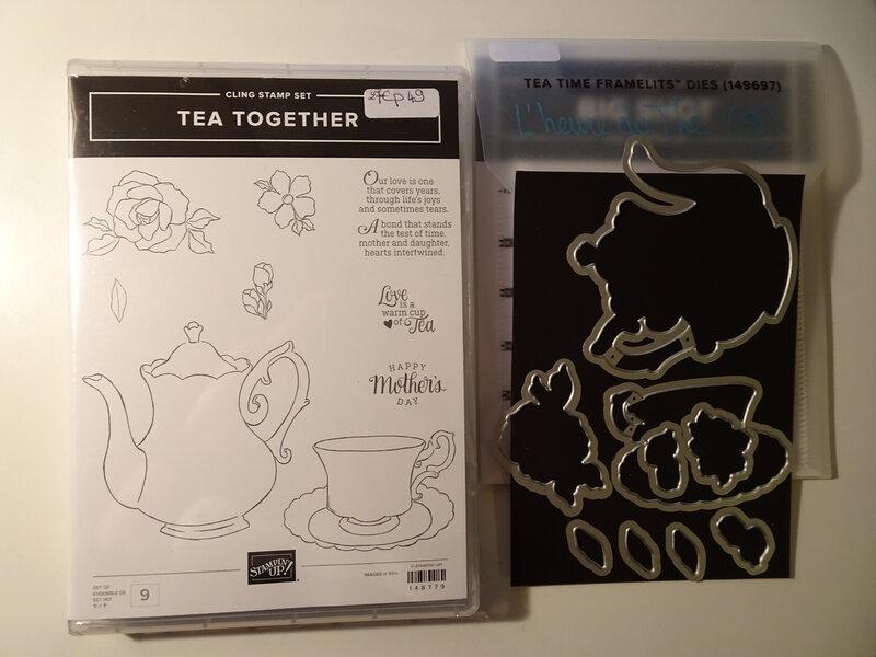 Tampons Tea together et Framelits L'heure du thé