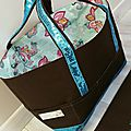 Tote de tricot choco turquoise