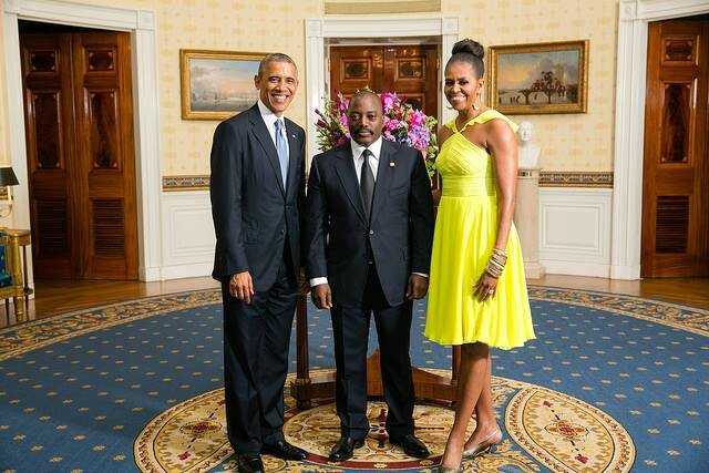 JOSPEH KABILA ET LE COUPLE OBAMA