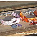 Bracelets duo lib sellier orange rose