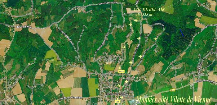 1288b) Montées col de Bel Air côté vilette de Vienne