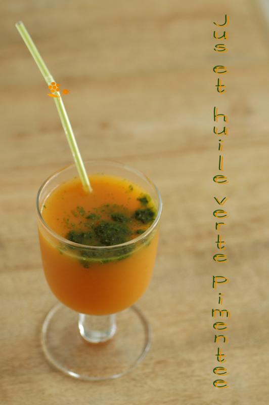 Jus ananas, carotte, orange & huile verte pimentée_1