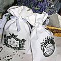 Sachet lavande angelots ou couronne fleurs :7 euros :FDP compris