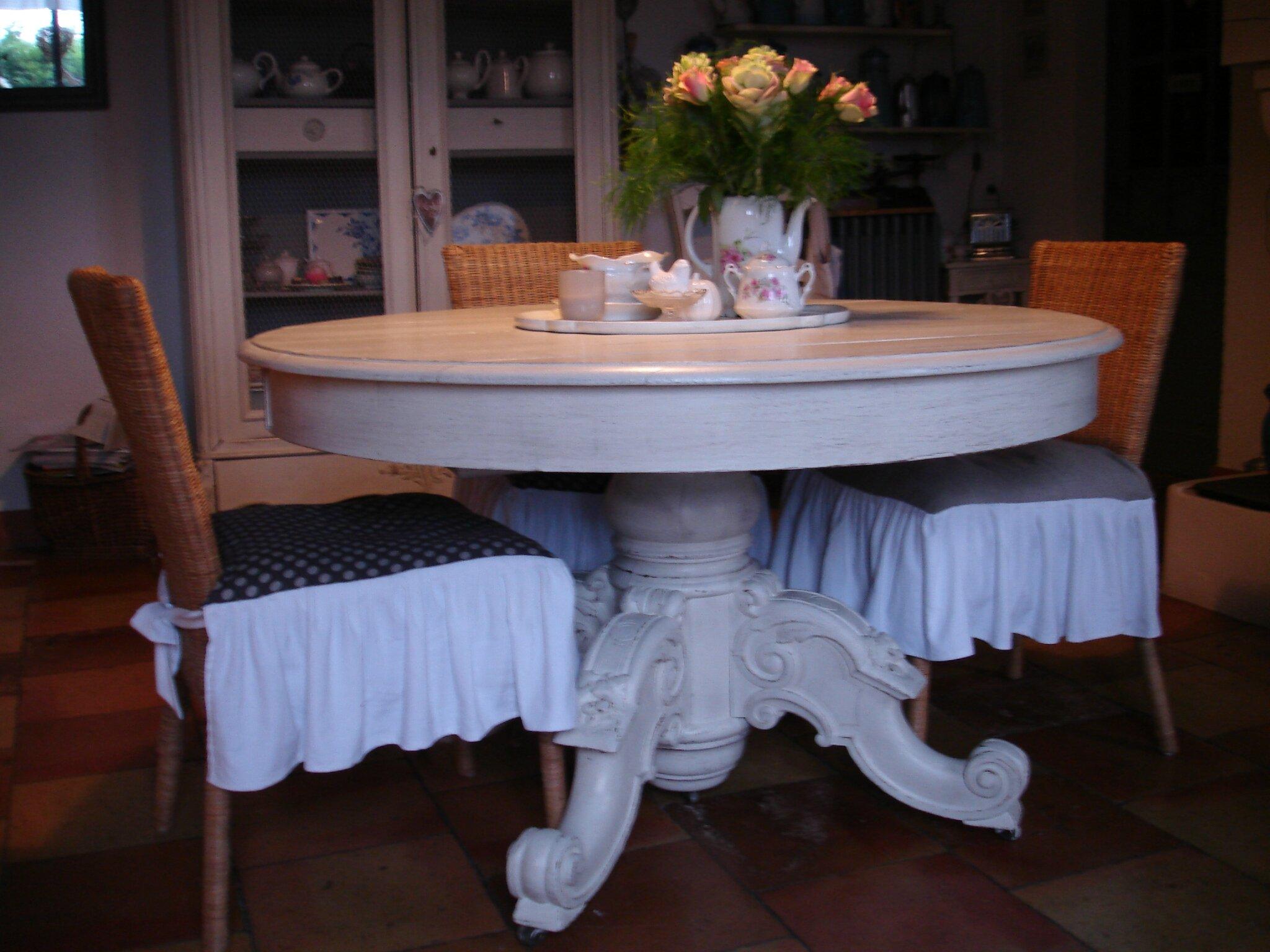 Nouvelle Table patine ficelle cuisine (4)