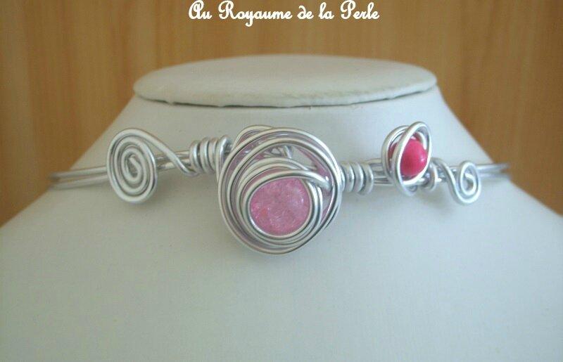 Collier rose aluminium détail 1 ALM