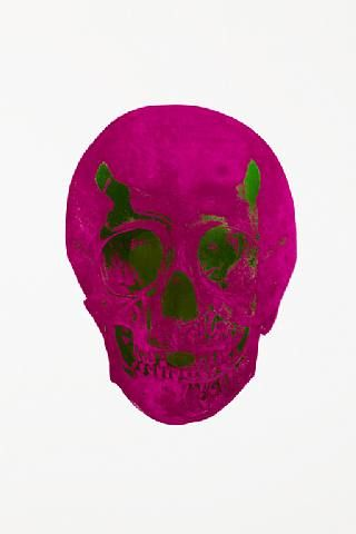 Damien Hirst, The Dead Fuschsia Pink Lime Green Skull , 2009