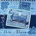 Assise royale en dentelle bleue