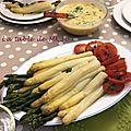 La sauce mousseline des asperges