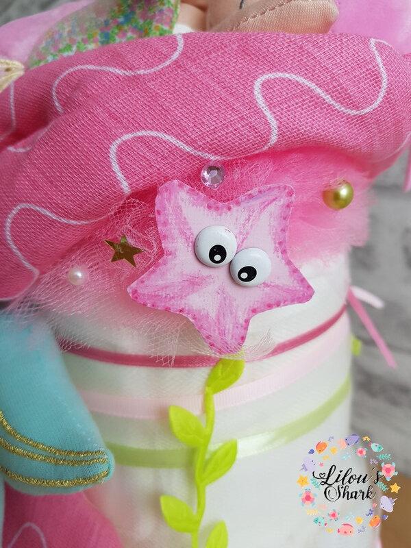 diaper cake mermaid francoise vermorel 5