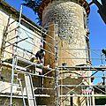 Restauration d'une tour Compétence: Enduits, Maçonnerie, Taille de Pierres