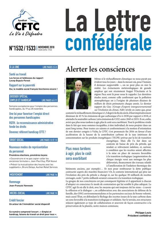 2018 11 LETTRE CONFEDERALE CFTC 1532 - 1533-01