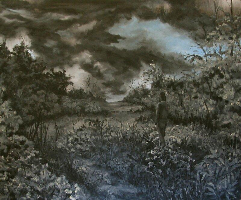 Linda Roux, Sans titre, acrylique sur toile, 170 x 140 cm, 2009