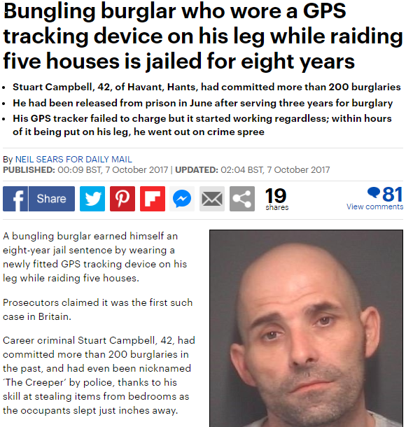 2020-07-10 22_22_36-Hants burglar who wore GPS tracker on crime spree jailed _ Daily Mail Online - O
