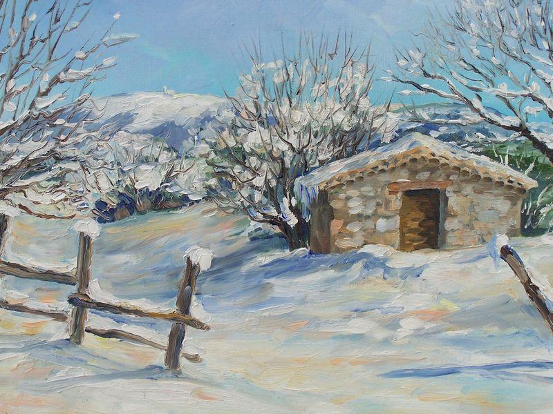Le village d eygali res annie riviere artiste peintre paysagiste proven al - Poste jean moulin salon de provence ...