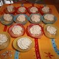 Mini cupcakes au chèvre mousse de pesto de basilic