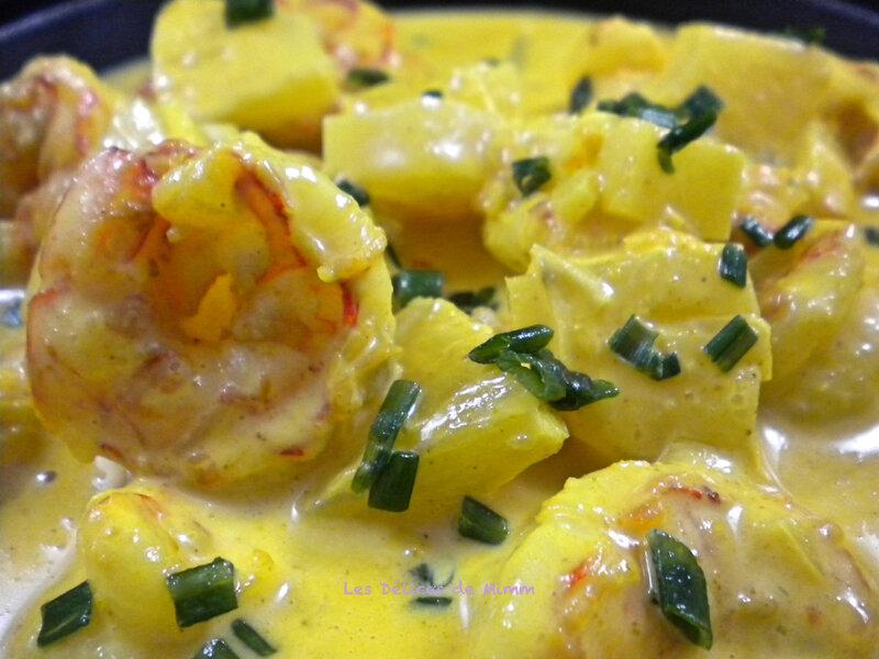Scampis au curry et à l'ananas 2