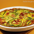 Clafoutis de courgettes aux copeaux de parme, fromage de chèvre et curry