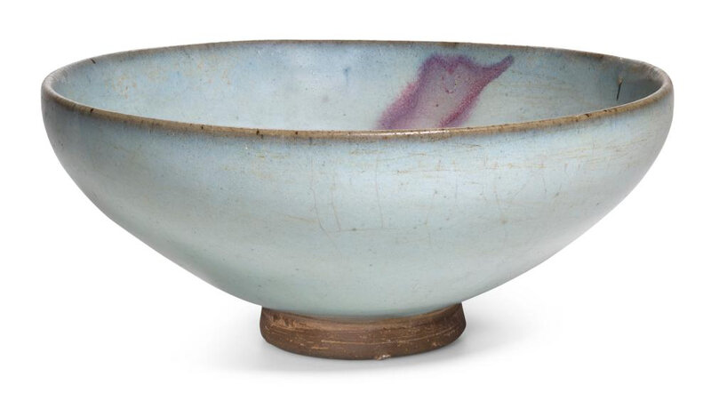 A purple-splashed 'Jun' bowl, Song dynasty (960-1279)