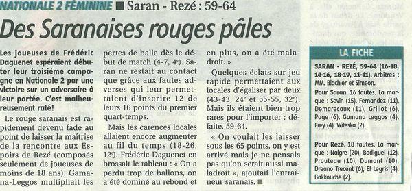 Article Saran Rezé 24 septembre 2012