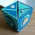 Carte naissance cube pop up - face 1