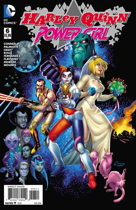 new 52 harley quinn and power girl 6