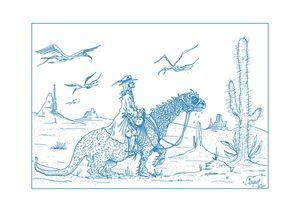 illustration bleu web