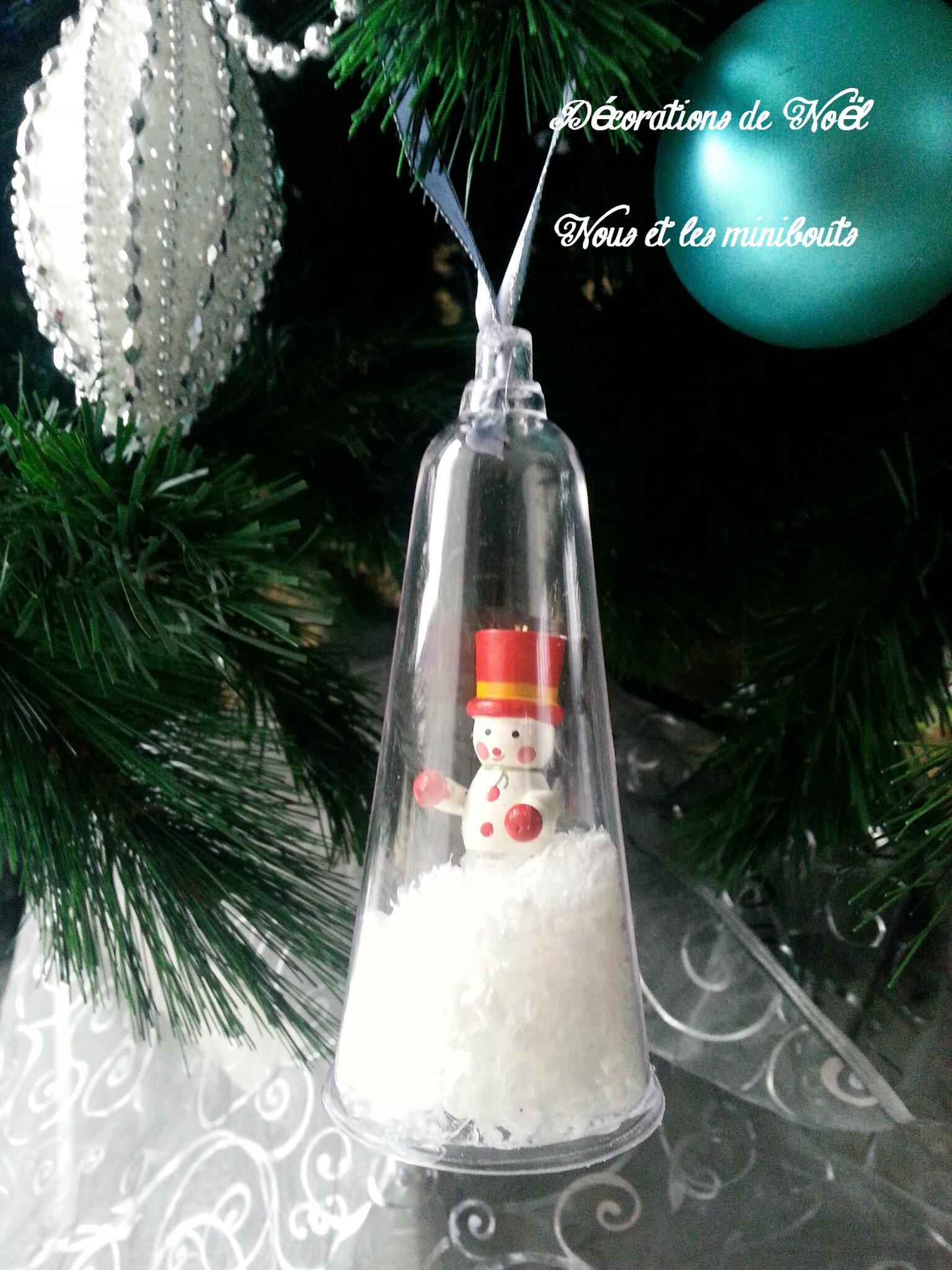Decoration De Noel Boules De Neige Diy Nous Et Les Minibouts