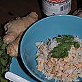 Le riz au poulet et au gingembre de jeanne