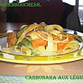 Carbonara de legumes