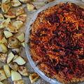 Tarte salée betteraves, carottes, millet et cumin