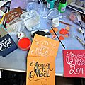 Carte de fêtes de fin d'année calligraphie