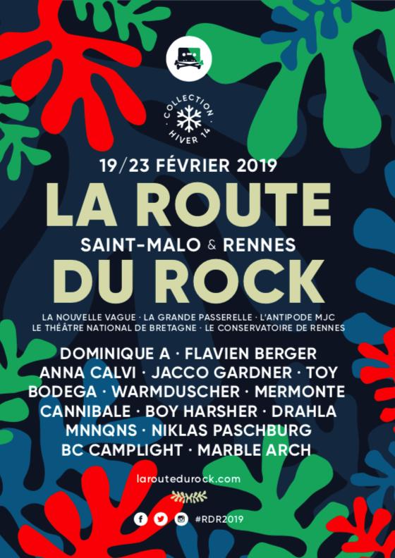 destination Rennes et Saint-Malo pour la 14ème édition de la Route du Rock - collection hiver • du 19 au 23 février 2019