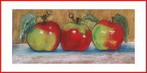 3 pommes cadre