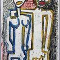 Couple 9.Technique mixte papier marouflé sur toile.2003.