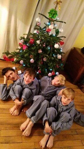 LOOK PÈRE-FILS : pyjama party avec l'Orangerie